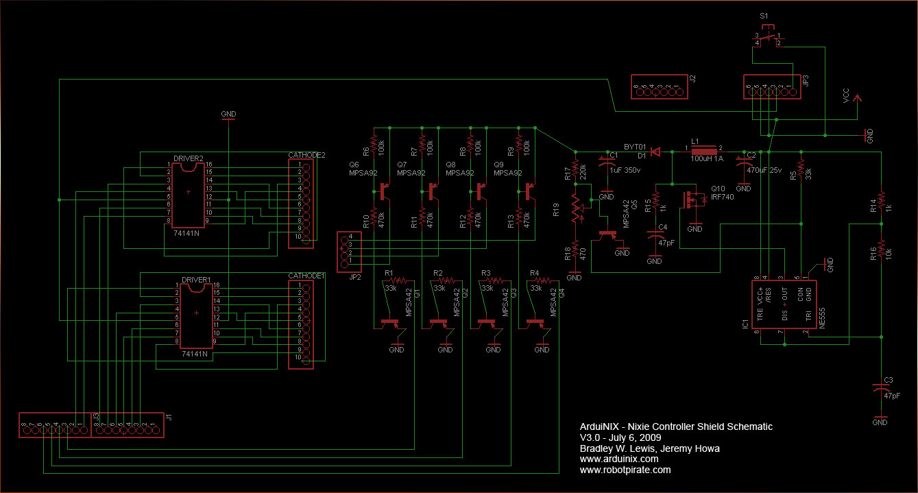 Nixie Clock Wiring Diagram Of Electronic There Are Code Samples Provided On The Arduinix Website Which Implement Truth Table Drivers Plus Time Count You Can Use This To Have
